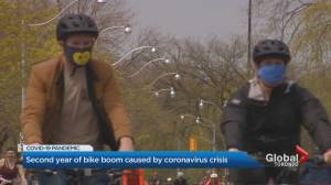 COVID-19: Toronto bike shops deal with continued shortages amid spike in interest (02:27)