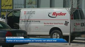 Court hears from father in Toronto van attack trial (01:31)