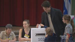 Federal Election 2019: Trudeau casts his ballot on election day