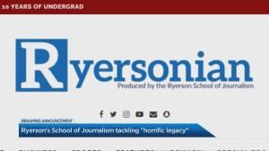 Ryerson School of Journalism to rename publication (04:35)