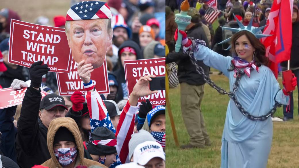 Arrests made as hundreds of Trump supporters cheer false election claims in D.C. - National | Globalnews.ca
