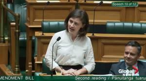 New Zealand MP shuts down heckler with 'OK boomer' retort