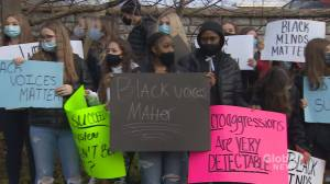 Prince Andrew students walk out of class to protest racism within Nova Scotia school system (01:52)