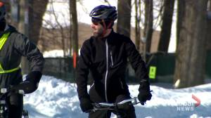 Montrealers brave frigid weather to advocate for winter cycling