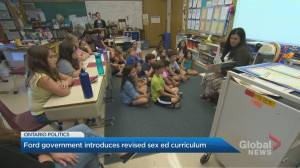 Ontario government releases new sex-ed curriculum, similar to scrapped version