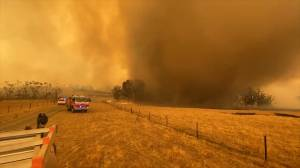 Whirlwind of smoke and ash caused by Australia bushfires forms in New South Wales