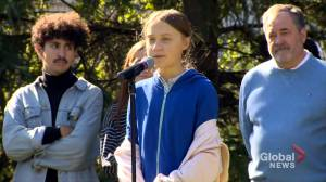 Climate activist Greta Thunberg speaks at Montreal Climate March