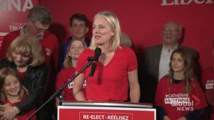 Federal Election 2019: In victory speech, McKenna says she's 'so happy' climate change is a top election issue