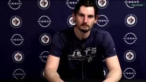 RAW: Winnipeg Jets Connor Hellebuyck Interview – Mar. 29 (03:00)