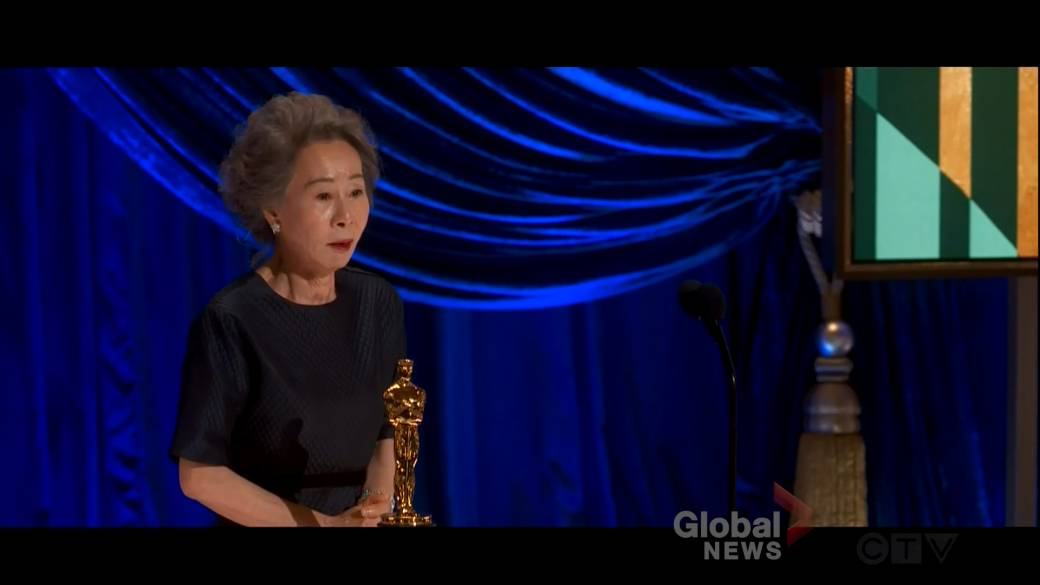 Click to play video: 'Oscars 2021: Yuh-Jung Youn becomes 1st Korean actor to wins best supporting actress'
