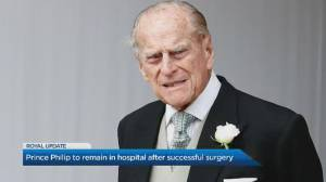 Prince Philip has successful heart procedure, will remain in hospital (00:25)