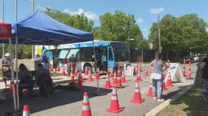 Coronavirus outbreak: Mobile testing clinic opens in Montreal's Côte-Des-Neiges