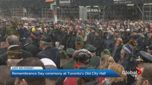 Remembrance Day ceremony at Old City Hall brings out thousands