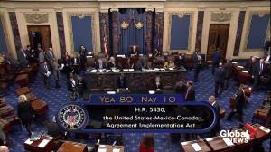 U.S. Senate approves U.S.-Mexico-Canada trade agreement, sending bill to Trump to sign into law