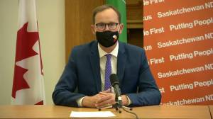 Saskatchewan government, opposition, health professionals issue guidance for holiday gatherings (01:31)