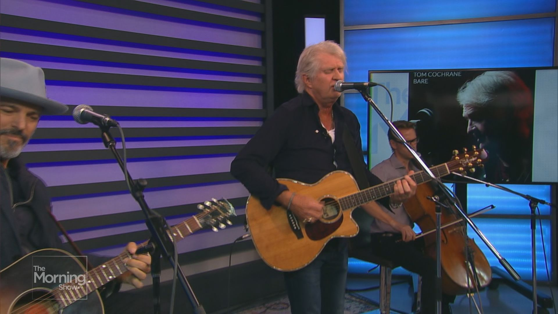 Tom Cochrane performs in The Morning Show studio