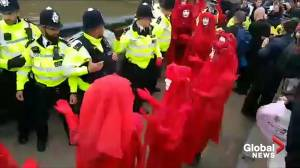 Extinction Rebellion protesters bring parts of London to standstill (01:00)