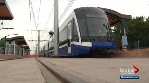 Valley Line LRT train testing begins between Strathearn and Muttart stops (02:02)