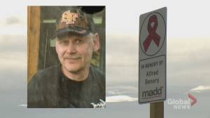 MADD Canada unveils first road sign memorial in Alberta