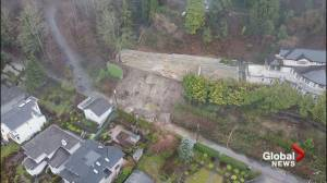 Landslide in Burnaby near Barnet Highway