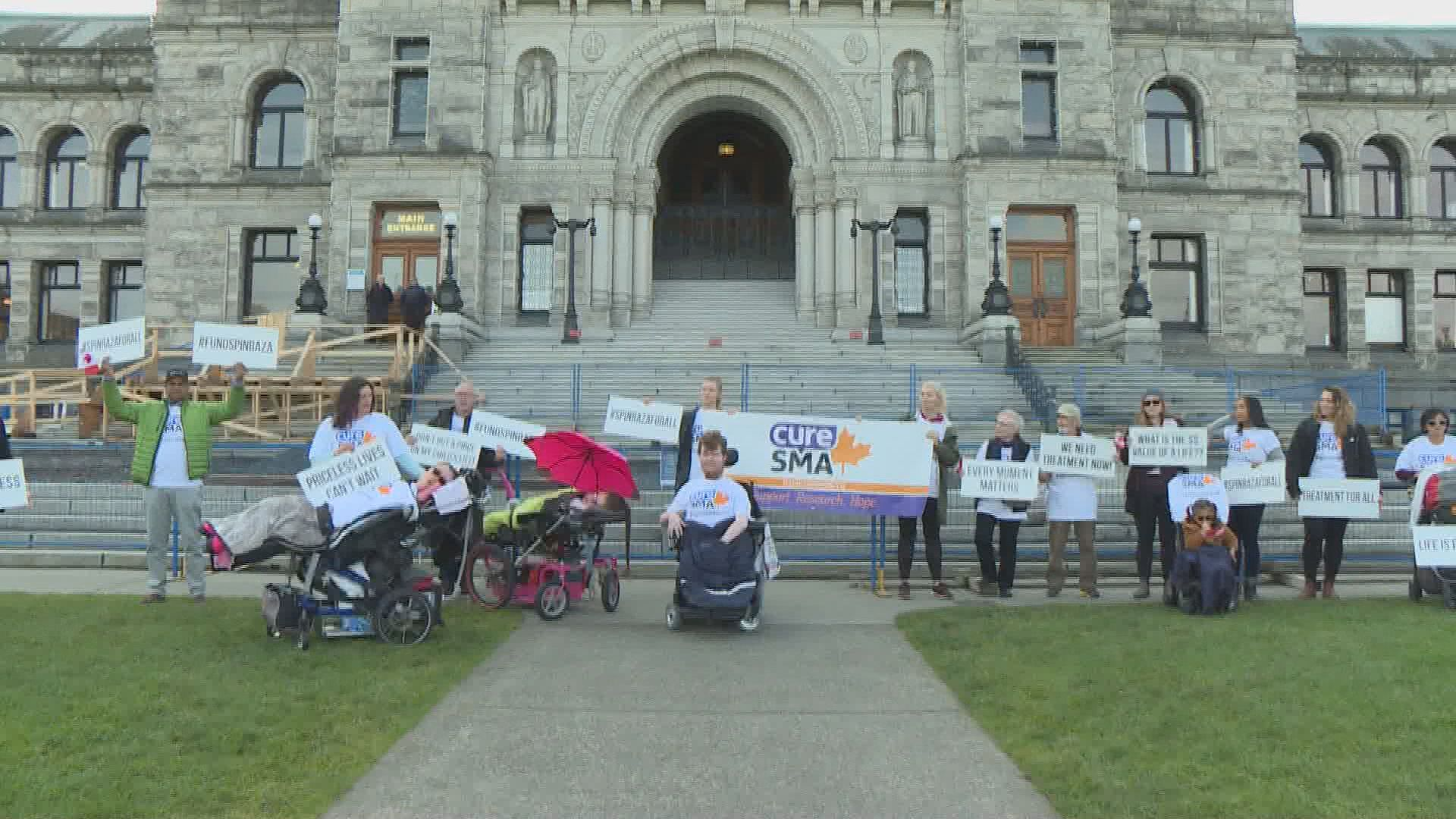 Spinal muscular atrophy patients march in Victoria to demand treatment