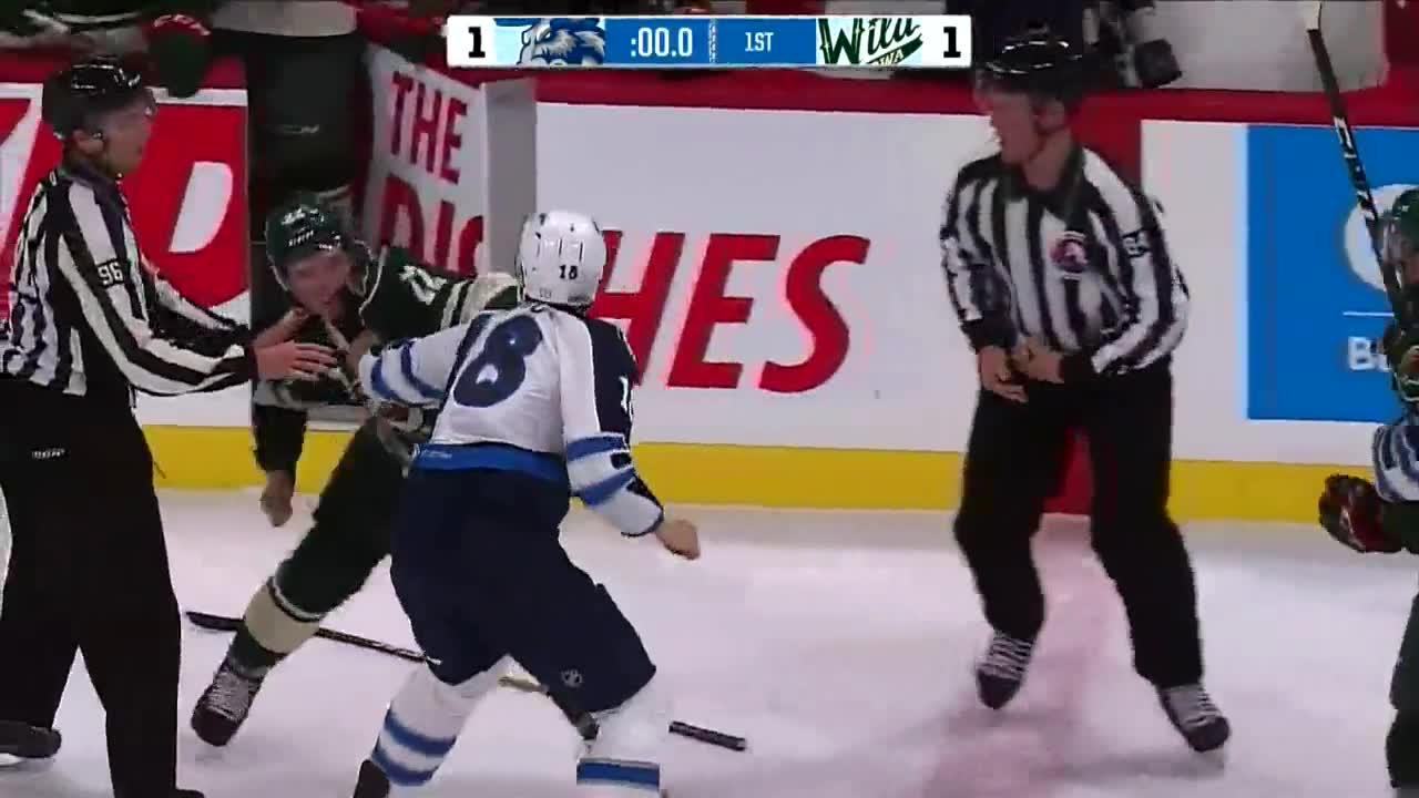 HIGHLIGHTS: AHL Wild vs Moose – Oct. 18