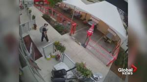 Patio damaged by vandal at South Surrey restaurant (01:08)