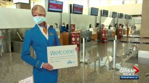 Calgary's airport receives important safety accreditation amid struggling consumer confidence (02:06)