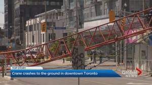 Second Toronto crane collapses in less than a month