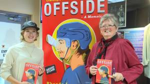 Offside is a book about the challenges faced by women in the sport of hockey
