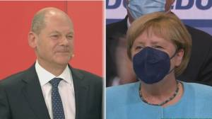 Social Democrats narrowly beat Germany's Angela Merkel's bloc (04:11)