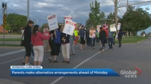 Concerned parents in Ontario react to potential education workers strike