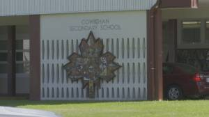 Cowichan Valley schools tagged with racist graffiti (01:45)