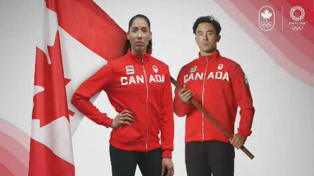 Click to play video: 'Team Canada names flag-bearers for Tokyo Olympic Games'