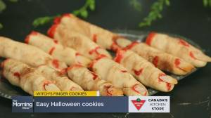 Easy Halloween recipe ideas: Creepy witch's fingers (06:40)