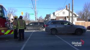 Pedestrian struck on Lansdowne Street in Peterborough (00:37)