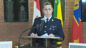 Saskatchewan officer killed during traffic stop of stolen truck: RCMP (02:17)