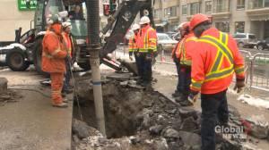 Parc Avenue sinkhole forces road closures
