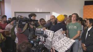 Federal Election 2019: Jagmeet Singh hugs protester demonstrating over ousting of Halifax candidate