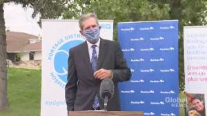 Pallister says Manitoba COVID-19 vaccination numbers 'are really dropping off' (00:56)