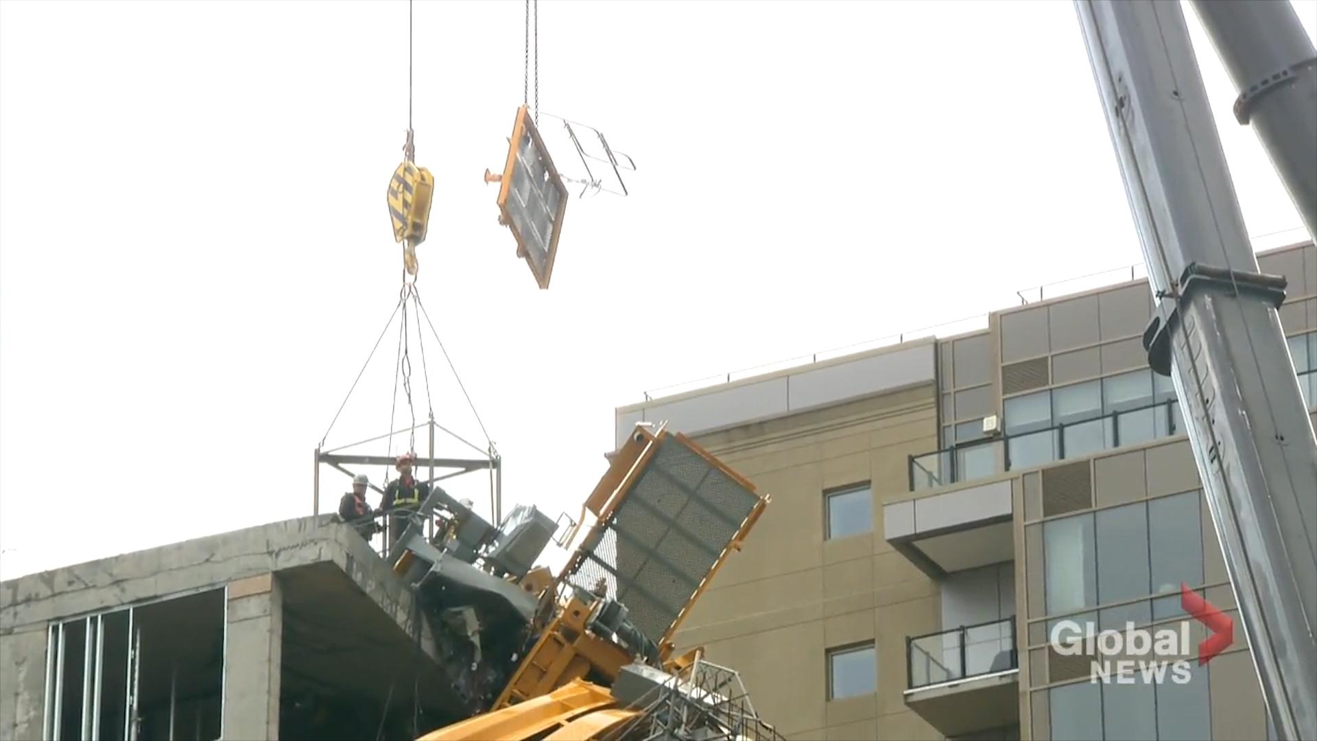 Work underway to dismantle toppled crane in Halifax that fell during Hurricane Dorian