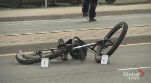 Police looking for suspect in Oshawa cyclist hit and run