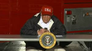 Trump visits Louisiana and Texas in aftermath of Hurricane Laura (01:40)