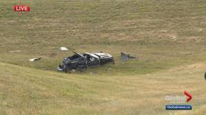 1 person dead, another injured after crash near Stoney Trail and McKnight Blvd (01:56)
