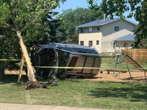7-year-old boy crashes family van in north Edmonton (01:31)