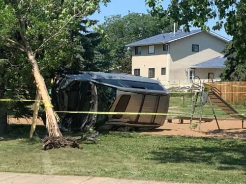 7-year-old boy crashes family van in north Edmonton | Watch News Videos Online