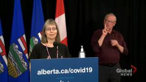 Hinshaw responds to Kenney photo: 'I'm not certain whether or not they were exactly 2 metres apart' (01:30)