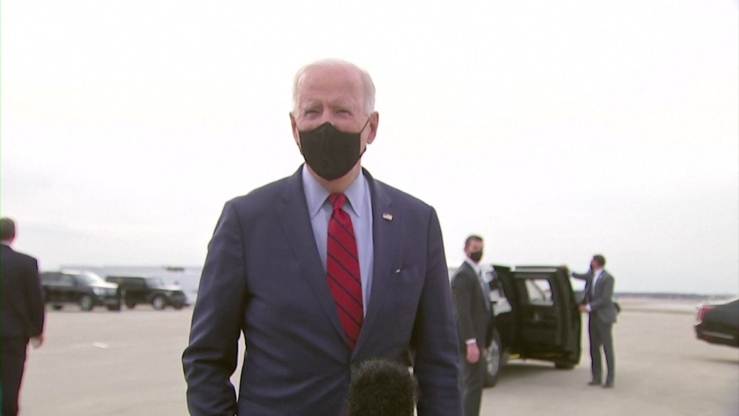 Click to play video: 'Biden says North Korea weapons test not provocation'