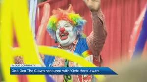 'Doo Doo The Clown' honoured as a civic hero