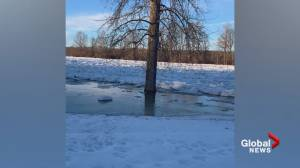 Ice jams could cause flooding along the Nechako River near Vanderhoof B.C. (01:26)
